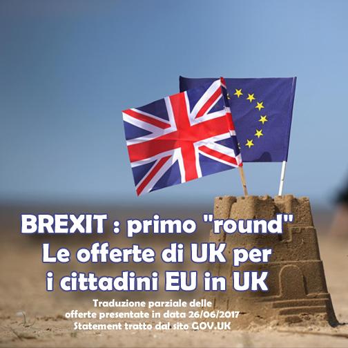 """BREXIT : primo """"round"""" – Le offerte di UK per i cittadini EU in UK"""