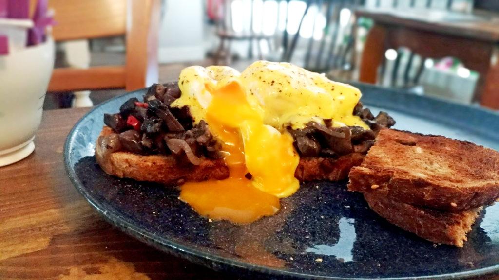 mushroom egg toast london cafe highness