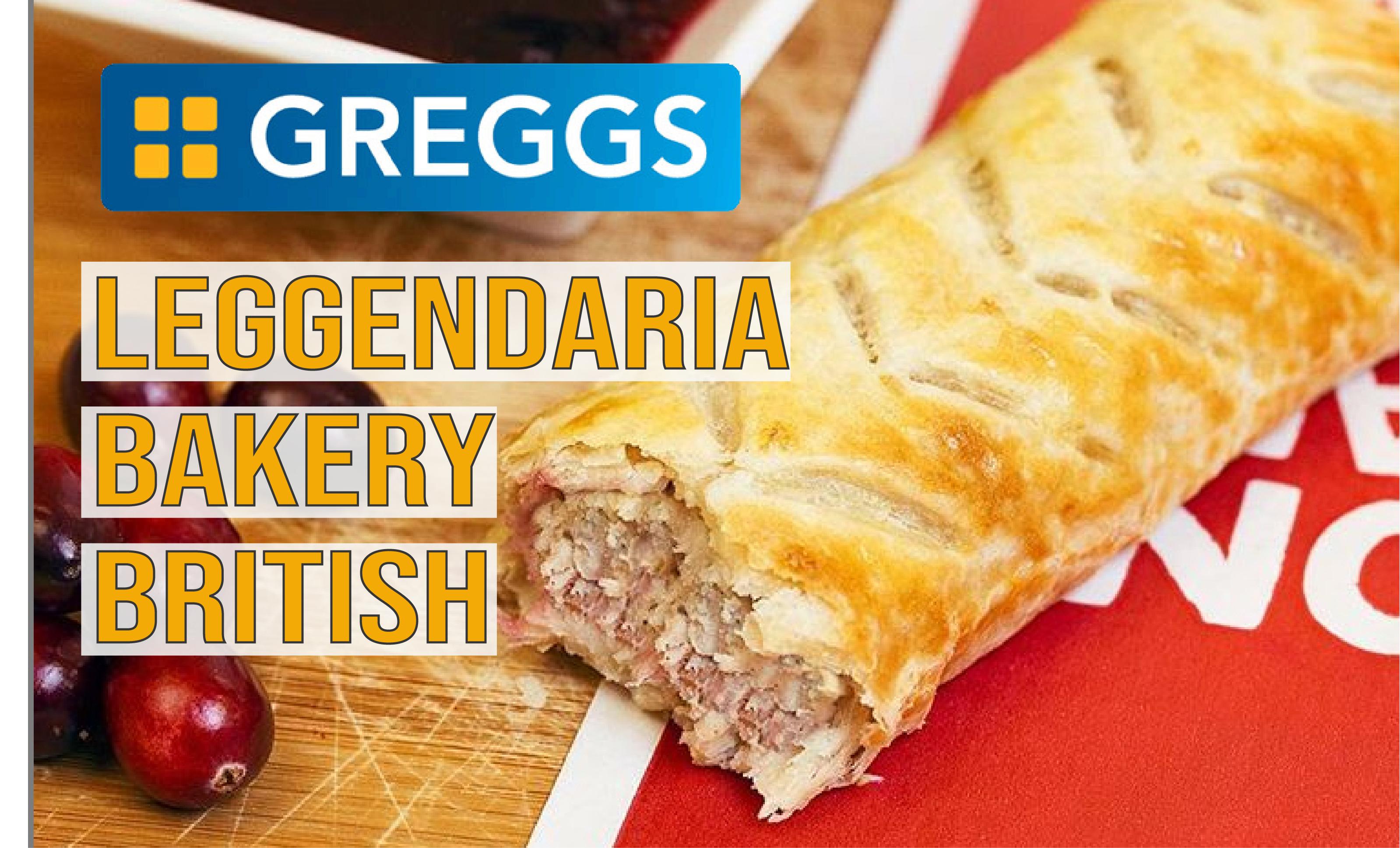 Greggs. Leggendaria Bakery British