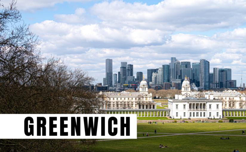 Vista su Londra da Greenwich